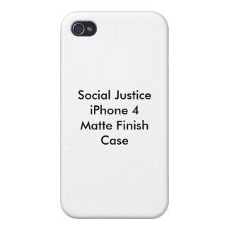 社会正義のiPhone 4の無光沢の終わりの場合 iPhone 4/4Sケース