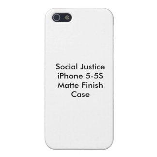 社会正義のiPhone 5-5Sの無光沢の終わりの場合 iPhone 5 Case