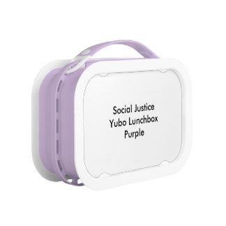 社会正義のYuboのランチボックスの紫色 ランチボックス