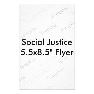 """社会正義5.5x8.5の""""フライヤ チラシ"""