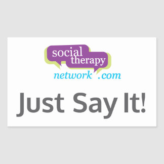 社会的なセラピーネットワークはちょうどそれを言います! 長方形シール