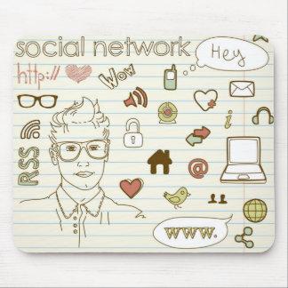 社会的なネットワークのマウスパッド マウスパッド