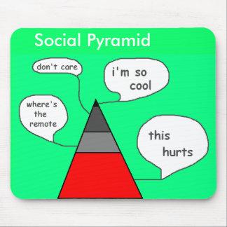 社会的なピラミッドのマウスパッド マウスパッド