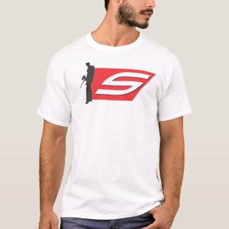 社会的なペイントボールのロゴのティー Tシャツ