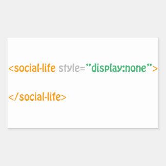 社会的な人生の指令 長方形シール