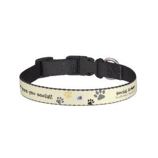 社会的な動物のペット用首輪