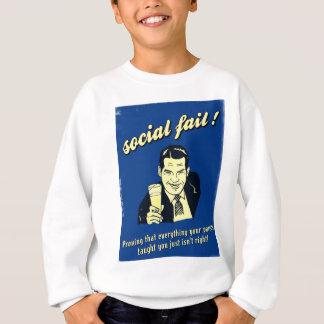 社会的な失敗 スウェットシャツ