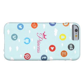 社会的な媒体のプリンセス BARELY THERE iPhone 6 ケース