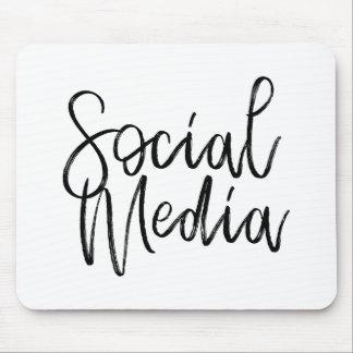 社会的な媒体の恋人のタイポグラフィ マウスパッド