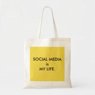 社会的な媒体は私の生命トートです トートバッグ