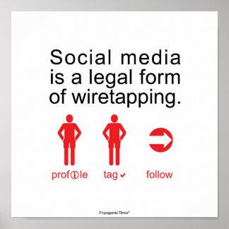 社会的な媒体 ポスター