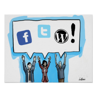 社会的な媒体FTW! ポスター