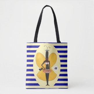 社会的な蝶擬似有名人の夏のトート トートバッグ