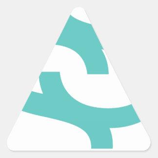 社会的な衛星色のロゴ 三角形シール