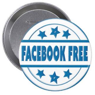 社会的なFacebookはあなたのカスタムな円形のバッジを解放します 10.2cm 丸型バッジ