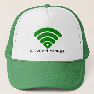 社会的なWIFIのマネージャーのカスタムな帽子、トラック運転手の帽子 キャップ
