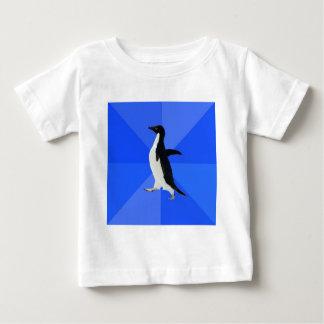 社会的に扱いにくいペンギンのアドバイス動物のミーム ベビーTシャツ