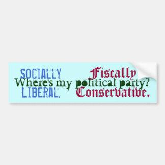 社会的に自由主義の。 、会計上保守主義者。、Whe… バンパーステッカー