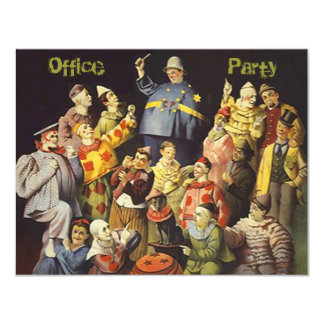 社内パーティーの社会的な招待状は会合おどけます カード