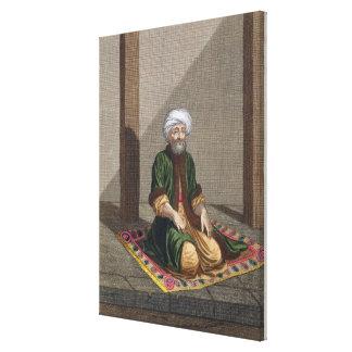 祈っているトルコの人18世紀(版木、銅版、版画) キャンバスプリント