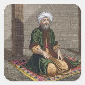 祈っているトルコの人18世紀(版木、銅版、版画) スクエアシール