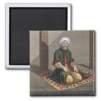 祈っているトルコの人18世紀(版木、銅版、版画) マグネット