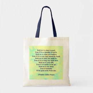 祈りの言葉で握って下さい トートバッグ