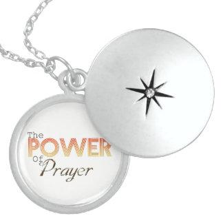祈りの言葉の力 スターリングシルバーネックレス