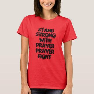 祈りの言葉の戦いの立場の強い赤BASICのTシャツ Tシャツ