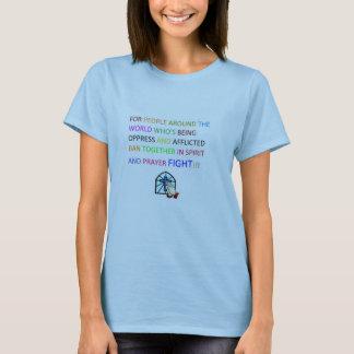 祈りの言葉の戦い淡いブルーのBASICのTシャツ Tシャツ