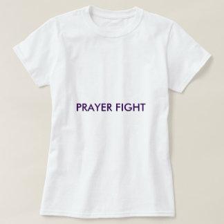 祈りの言葉の戦い白いBASICのTシャツ Tシャツ