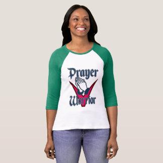 祈りの言葉の戦士の女性RaglanのTシャツ Tシャツ