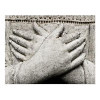 祈りの言葉の手 ポストカード