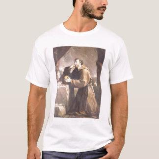 祈りの言葉のAssisiのSt Francis Tシャツ