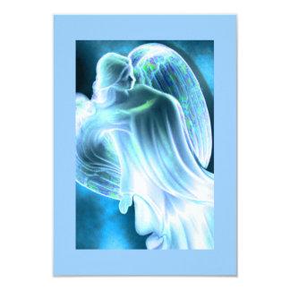 祈りの言葉カードを慰めるブルーエンジェル 8.9 X 12.7 インビテーションカード