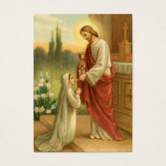 祈りの言葉カード: すべての事の聖餐式 名刺