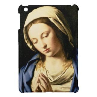 祈りの言葉(キャンバスの油)のマドンナ iPad MINIケース