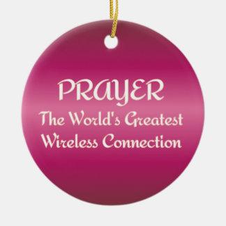 祈りの言葉-最も素晴らしい無線つながり セラミックオーナメント