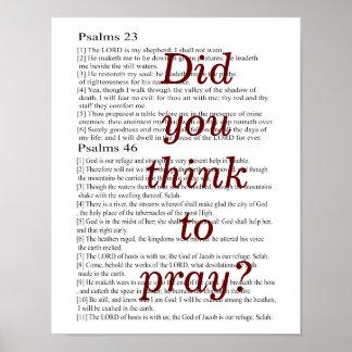 祈るために考えましたか。 ポスター