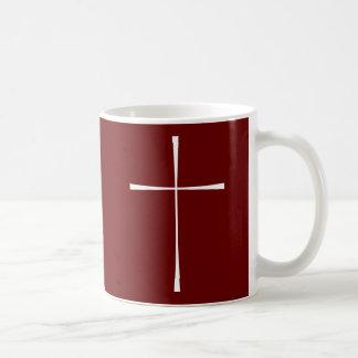 祈祷書の十字の白 コーヒーマグカップ