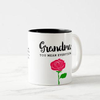 祖母すべてをマグ意味します ツートーンマグカップ