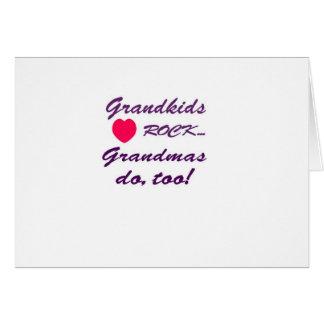 祖母と孫か間のなんと特別な結束! カード