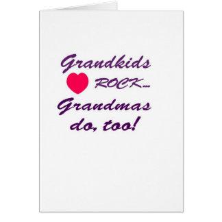 祖母と孫か間のなんと特別な結束! グリーティングカード