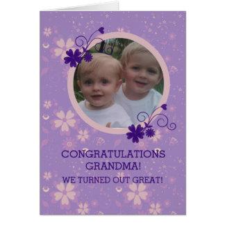 祖母のためのおもしろいな写真カード グリーティングカード