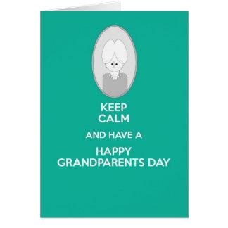 祖母のための幸せな祖父母日は平静を保ちます カード