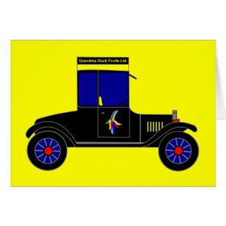 祖母のアヒルのフルーツ株式会社-事実上車 グリーティングカード