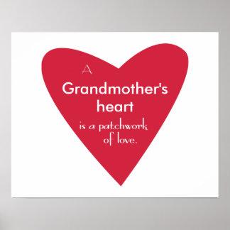 祖母のハート ポスター
