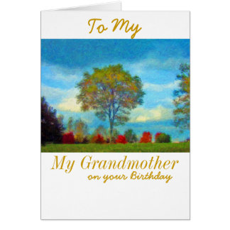 祖母のバースデー・カード グリーティングカード