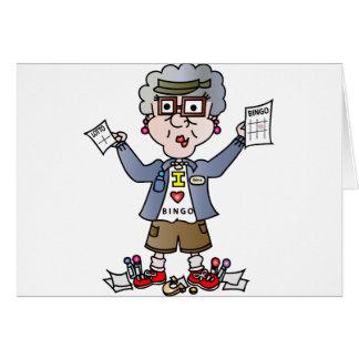 祖母のビンゴ グリーティングカード