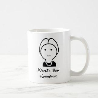 祖母のマグ(個人化して下さい) コーヒーマグカップ